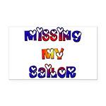 Missing My Sailor Rectangle Car Magnet