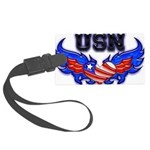 usnheartwing2 Large Luggage Tag