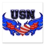 usnheartwing2 Square Car Magnet 3