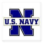 U S Navy Square Car Magnet 3
