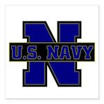 US Navy Square Car Magnet 3