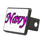 navydesignpink2a Rectangular Hitch Cover