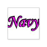 navydesignpink2a Square Sticker 3