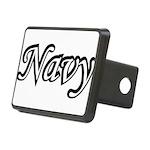 navydesignblack2 Rectangular Hitch Cover