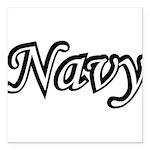 navydesignblack2 Square Car Magnet 3