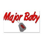 majorbabyusn Rectangle Car Magnet