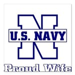 usnavyproudwife2 Square Car Magnet 3
