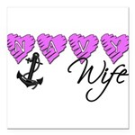 navywife10 Square Car Magnet 3