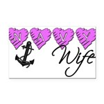 navywife10 Rectangle Car Magnet