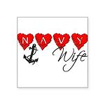 navywife11 Square Sticker 3