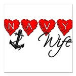 navywife11 Square Car Magnet 3