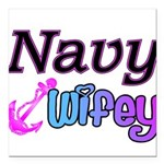 navywifey Square Car Magnet 3