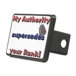 Navy Wife Authority Rectangular Hitch Cover