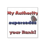 Navy Wife Authority Square Sticker 3