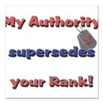 Navy Wife Authority Square Car Magnet 3