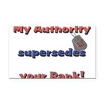 Navy Wife Authority Rectangle Car Magnet