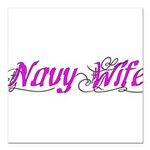Navy Wife Square Car Magnet 3