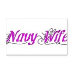 Navy Wife Rectangle Car Magnet