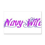 Navy Wife ver2 Rectangle Car Magnet