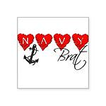 navybrat10 Square Sticker 3