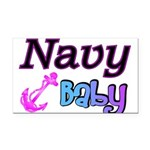 navybaby Rectangle Car Magnet