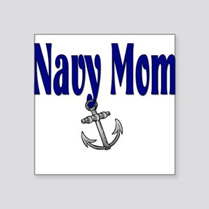 "navymomanchor Square Sticker 3"" x 3"""