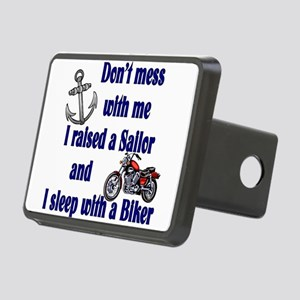 2-RAISEDSAILORBIKER Rectangular Hitch Cover