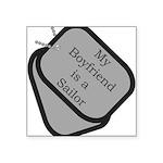 My Boyfriend is a Sailor dog Square Sticker 3&quot
