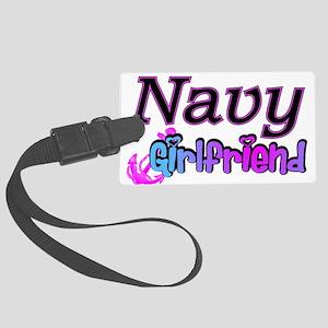 navygirlfriend9 Large Luggage Tag