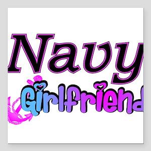 "navygirlfriend9 Square Car Magnet 3"" x 3"""