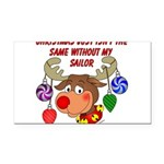 deernavy Rectangle Car Magnet