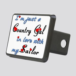 Country Gal Sailor Love Rectangular Hitch Cover