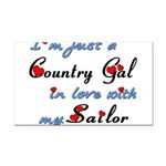Country Gal Sailor Love Rectangle Car Magnet