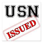 USN Issued Square Car Magnet 3
