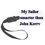 My Sailor is smarter than Joh Large Luggage Tag