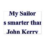 My Sailor is smarter than Joh Rectangle Car Magnet
