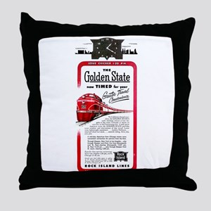 The Golden State Throw Pillow