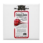 The Golden State Tile Coaster
