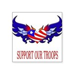supportroopsheart7 Square Sticker 3