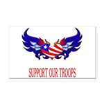 supportroopsheart7 Rectangle Car Magnet