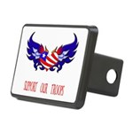 supportroopsheart6a Rectangular Hitch Cover