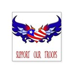 supportroopsheart6a Square Sticker 3