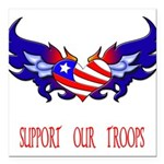 supportroopsheart6a Square Car Magnet 3