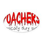 poachers Oval Car Magnet
