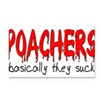 poachers Rectangle Car Magnet