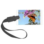 kids and butterflies050 Large Luggage Tag