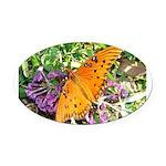 kids and butterflies046 Oval Car Magnet