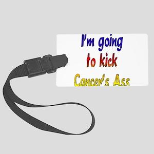 kickcancerass4 Large Luggage Tag