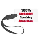 English Speaking American Large Luggage Tag