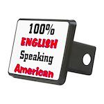 English Speaking American Rectangular Hitch Cover